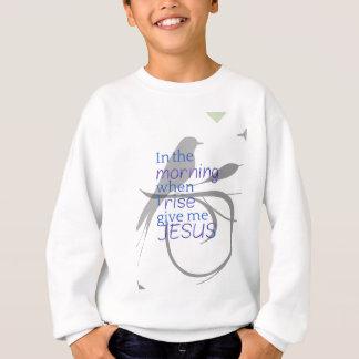 Agasalho Dê-me o elogio de Jesus e o design do culto