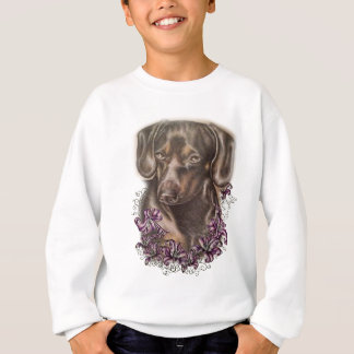 Agasalho Desenho da arte do cão e dos lírios do Dachshund