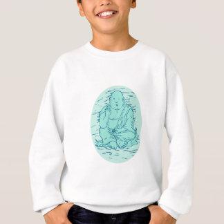 Agasalho Desenho da pose de Gautama Buddha Lotus