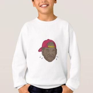 Agasalho Desenho de grito do rapper do afro-americano