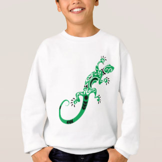 Agasalho Desenho do lagarto verde