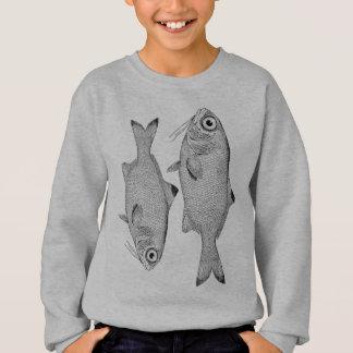 Agasalho Desenho estranho dos peixes do vintage