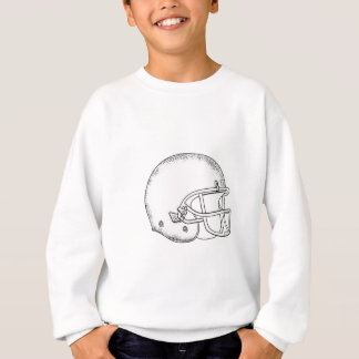 Agasalho Desenho preto e branco do capacete de futebol