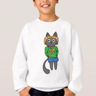 Agasalho Desenhos animados bonitos do gato na moda