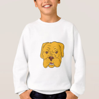 Agasalho Desenhos animados da cabeça de cão do Bordéus