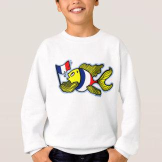 Agasalho Desenhos animados engraçados dos peixes franceses