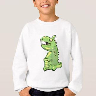 Agasalho desenhos animados pequenos do dinossauro verde