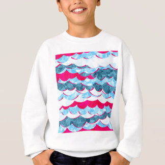 Agasalho Design abstrato das ondas do mar