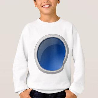 Agasalho design azul do círculo do botão