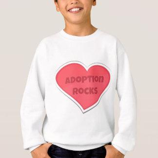 Agasalho Design do coração do rosa de rochas da adopção