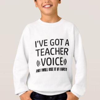 Agasalho Design engraçado da voz do professor