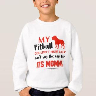Agasalho Design engraçado das mamães do pitbull