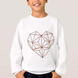 Agasalho design oxidação-geométrico do coração