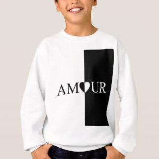 Agasalho Design preto e branco do amor do CASO AMOROSO