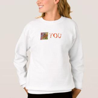 Agasalho É você a camisola floral da menina da arte