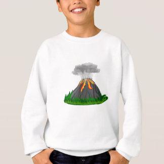 Agasalho erupção e fogo do vulcão
