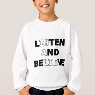 Agasalho Escute e acredite (é uma mentira)