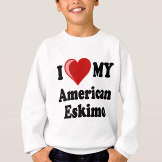 Agasalho Eu amo (coração) meu cão Eskimo americano