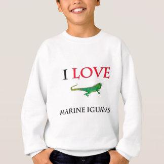 Agasalho Eu amo iguanas marinhas