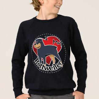 Agasalho Eu amo meu Rottweiler engraçado & bonito adorável