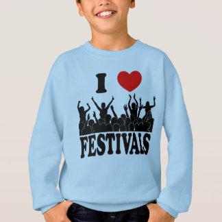 Agasalho Eu amo os festivais (o preto)