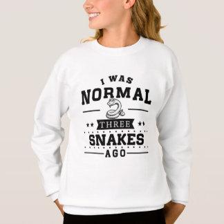 Agasalho Eu era três cobras normais há