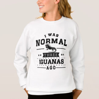 Agasalho Eu era três iguanas normais há