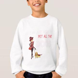 Agasalho Eu estou apenas aqui pet todos os cães