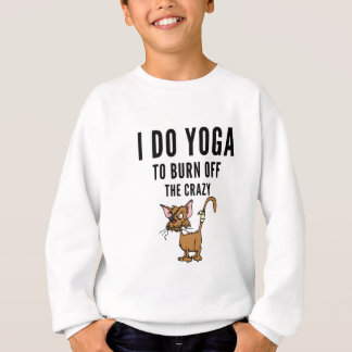 Agasalho Eu faço a ioga à queimadura do louco