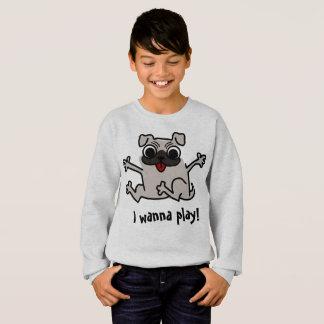 Agasalho Eu quero jogar a camisola engraçada do Pug