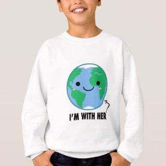 Agasalho Eu sou com ela - Dia da Terra do planeta