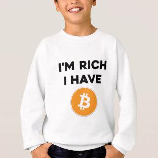 Agasalho Eu sou rico - eu tenho Bitcoin