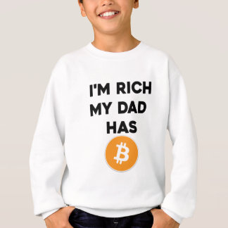 Agasalho Eu sou rico - meu pai tem Bitcoin