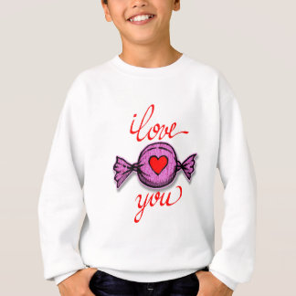 Agasalho Eu te amo (doces cor-de-rosa)