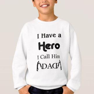Agasalho Eu tenho um herói que eu o chamo pai