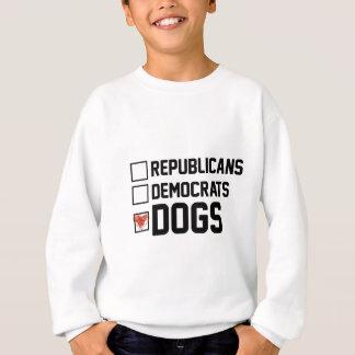 Agasalho Eu voto cães