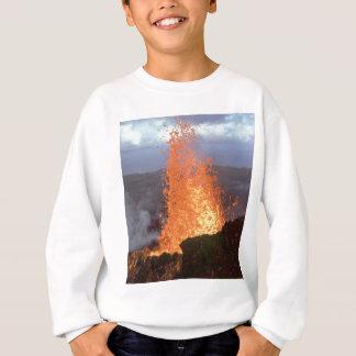 Agasalho explosão do vulcão da lava