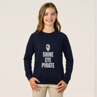 Agasalho Eyepatch do pirata do olho do brilho. Texto claro
