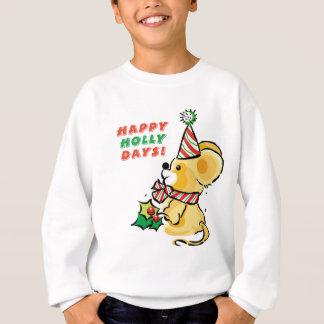 Agasalho Feriado feliz dos dias do azevinho do filhote de
