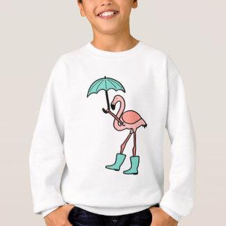 Agasalho Flamingo que guardara o guarda-chuva e que veste
