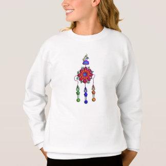 Agasalho flores de suspensão coloridas