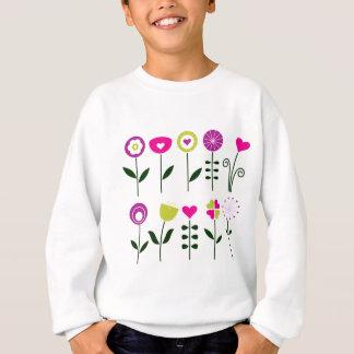 Agasalho Flores populares/preto cor-de-rosa mágico no