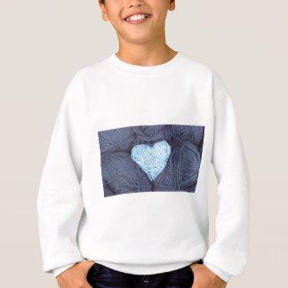 Agasalho Fotografia bonita do coração azul de lãs