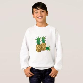 Agasalho fruta de três abacaxis