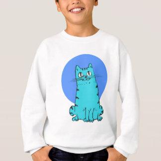 Agasalho gatinho doce dos desenhos animados do gato azul