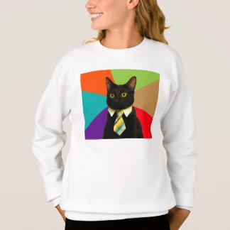 Agasalho gato do negócio - gato preto