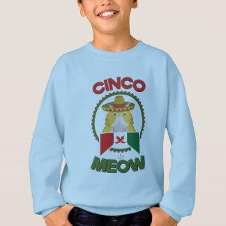 Agasalho Gato engraçado para o feriado do mexicano de Cinco