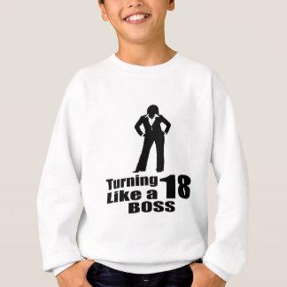 Agasalho Girando 18 como um chefe