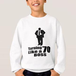 Agasalho Girando 70 como um chefe