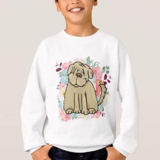 Agasalho Grande cão macio com flores